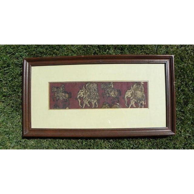 Framed Kalamkari Textile, Moghul Empire