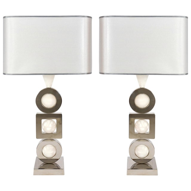 White Laudarte Srl Andromeda Table Lamp by Attilio Amato, Pair Available For Sale - Image 8 of 8