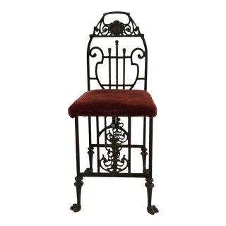 1920s Art Deco Oscar Bach Iron Telephone Chair For Sale