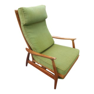 Early Mid-Century Modern Recliner in the Manner of Milo Baughman For Sale