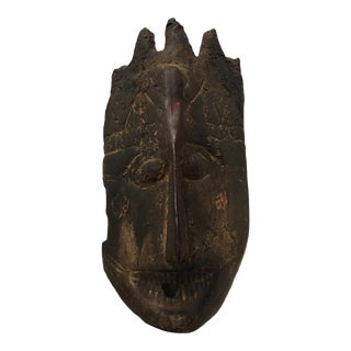 Antique Himalayan Nepalese Ritual Drinking Mask Carved Wood For Sale