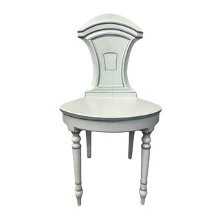 1970s Vintage Light Gray Hall Chair For Sale