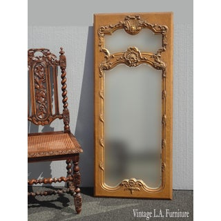1950s Vintage French Provincial Gold Wall Mantle Mirror Preview