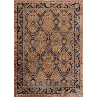 Antique Agra Indian 12'x16' Wool Rug For Sale