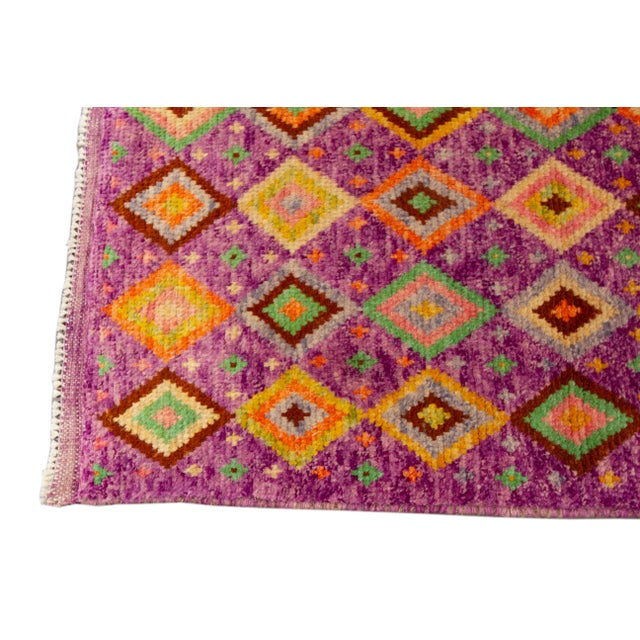 "Modern Gabbeh Rug, 2'9"" X 9'3"" For Sale - Image 4 of 10"