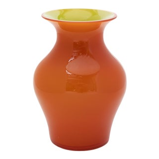Fortuny by Moretti Madrazo Orange Vase For Sale