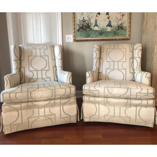 Sherrill Furniture Swivel Rocker Wing Loungers- a Pair Preview