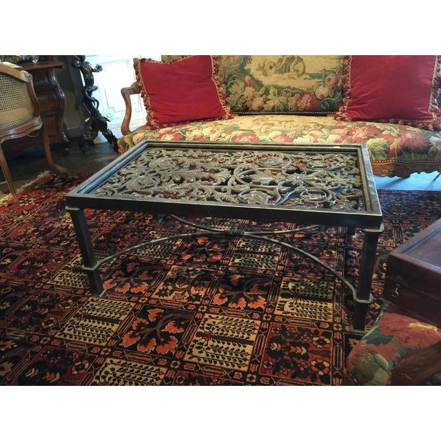 19th Century French Balcony Polished Iron Coffee Table Base For Sale - Image 5 of 8