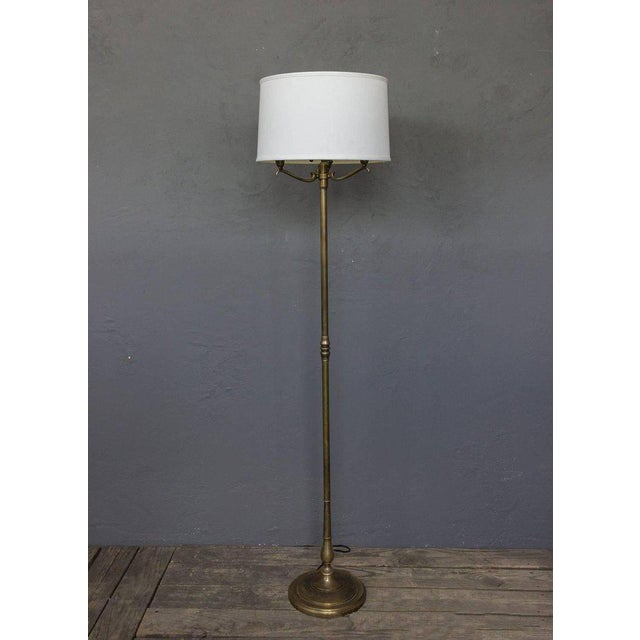 1940s French Brass Floor Lamp For Sale In New York - Image 6 of 10