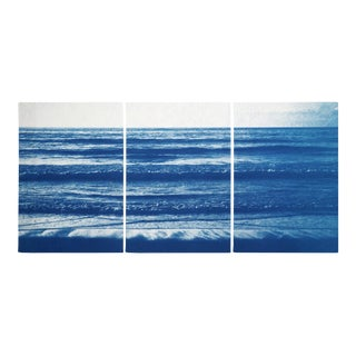 Pacific Beach Horizon Triptych Cyanotype by Kind of Cyan, 2020, 3 Pieces For Sale
