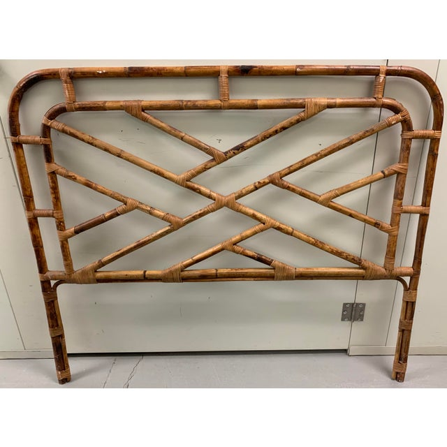 Bent Bamboo Full Size Headboard For Sale - Image 10 of 13