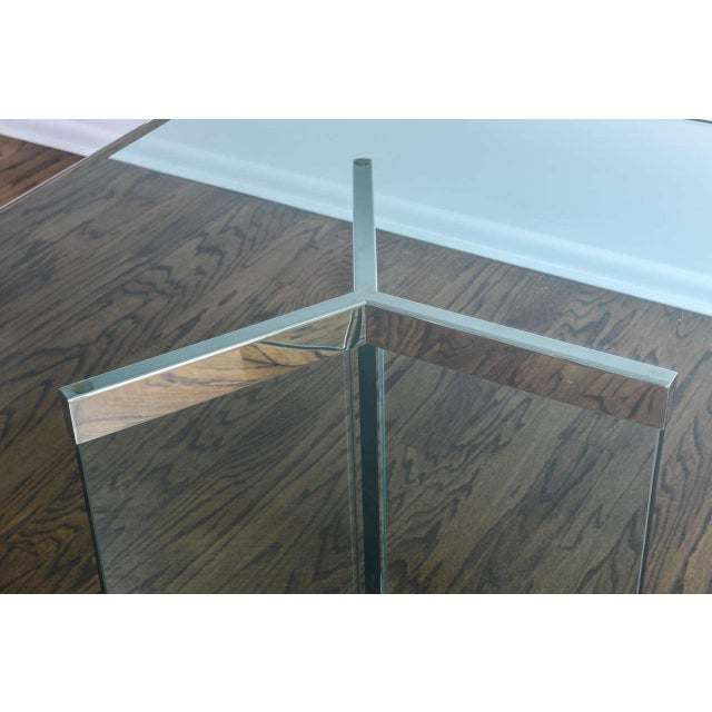 Pace 1970s Leon Rosen for Pace Collection Chrome & Glass Rectangular Dining Table For Sale - Image 4 of 10