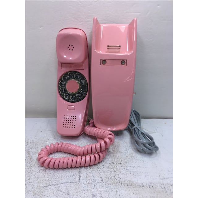 ITT Rotary Trendline Pink Wall Telephone, 1969 For Sale - Image 11 of 11