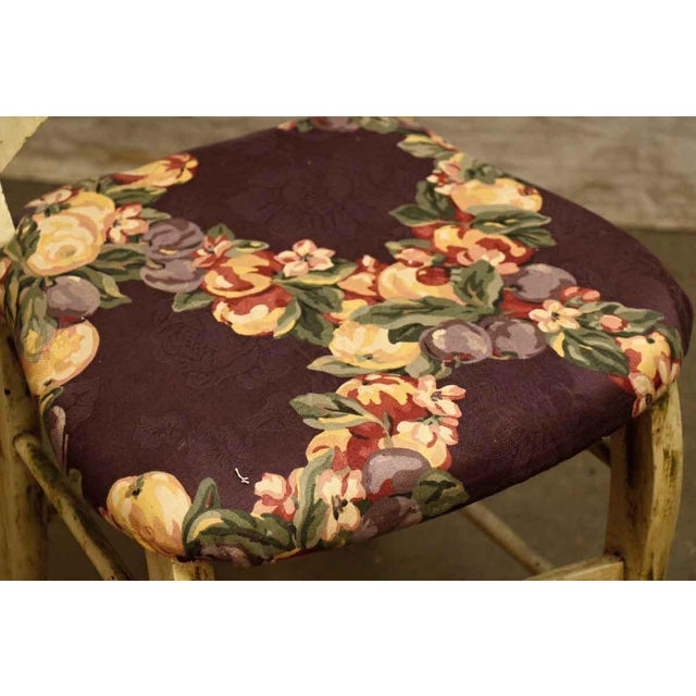 Pair of Wooden Chairs With Floral Seat - Image 10 of 10
