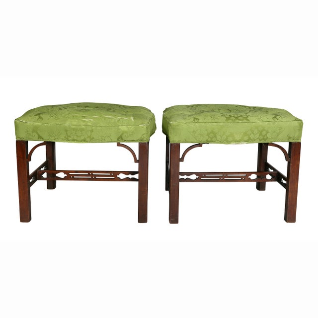 Pair of George III Mahogany Footstools For Sale - Image 11 of 13