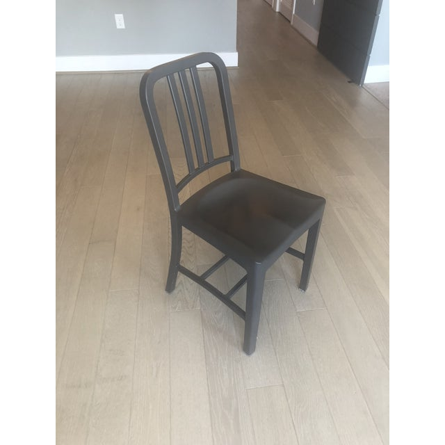 Minimalism Emeco 111 Gray Navy Chair For Sale - Image 3 of 3