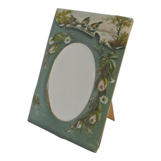 Antique Victorian Scenic Cardboard Picture Frame