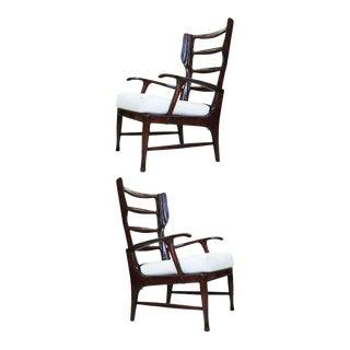 Pair of Arm Chairs by Paolo Buffa For Sale