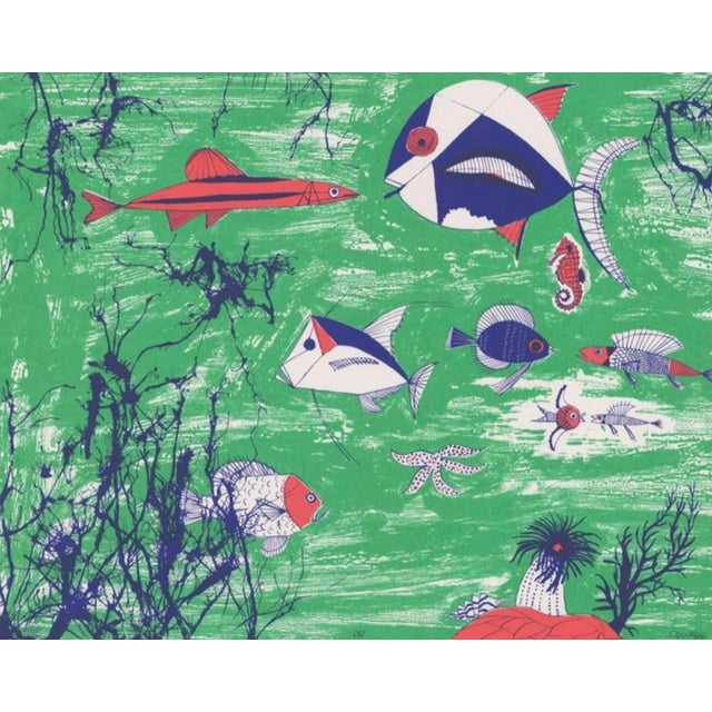 Modern 1990s Edward Arden Under the Sea Lithograph For Sale - Image 3 of 7