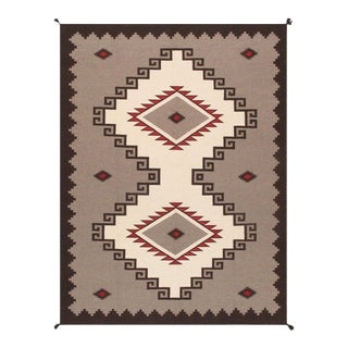 """Pasargad Home Navajo-Style Wool Area Rug- 8'10"""" X 11'10"""" For Sale"""