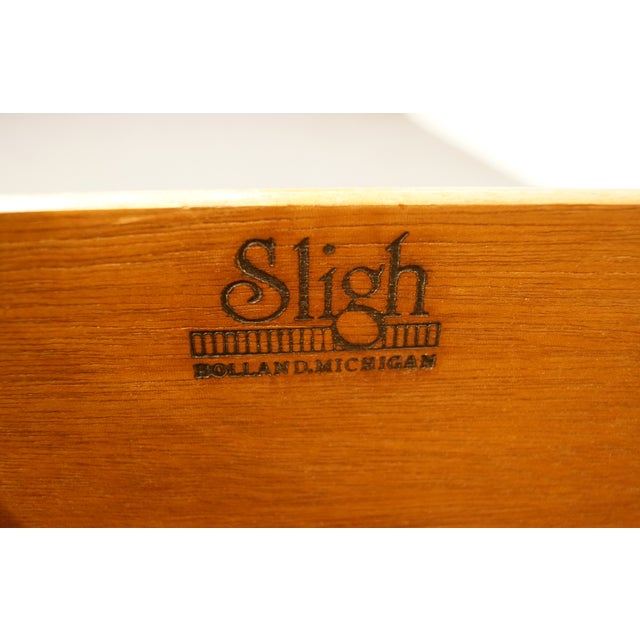 """Sligh Furniture Solid Cherry Chippendale 74"""" Double File Cabinet Credenza For Sale - Image 9 of 13"""