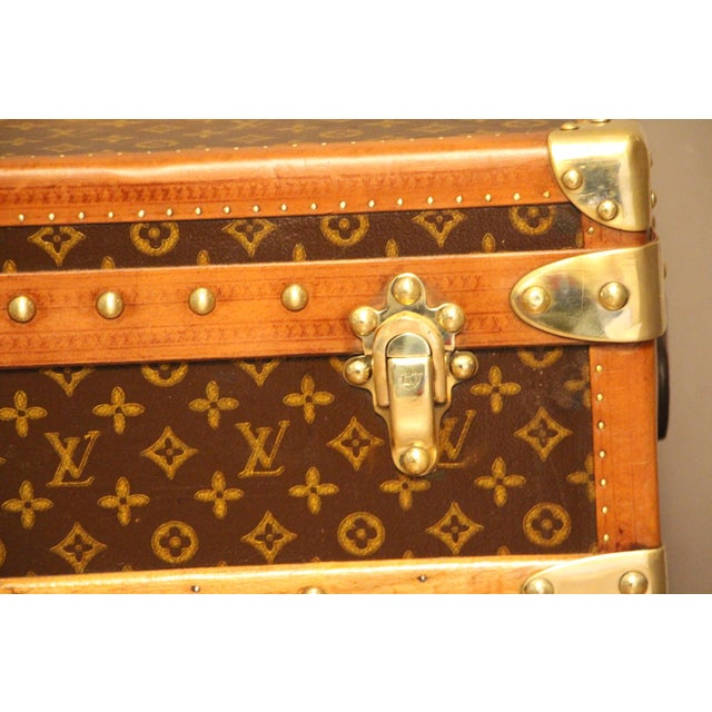 French 1930s Louis Vuitton Cabin Steamer Trunk For Sale - Image 3 of 13