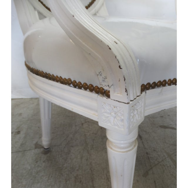 Antique Louis XVI Style Chairs - A Pair For Sale - Image 9 of 11