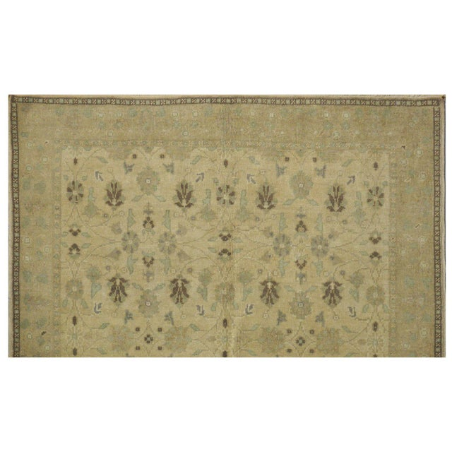 Contemporary Vintage Turkish Oushak Rug - 4′7″ × 7′9″ For Sale - Image 3 of 4
