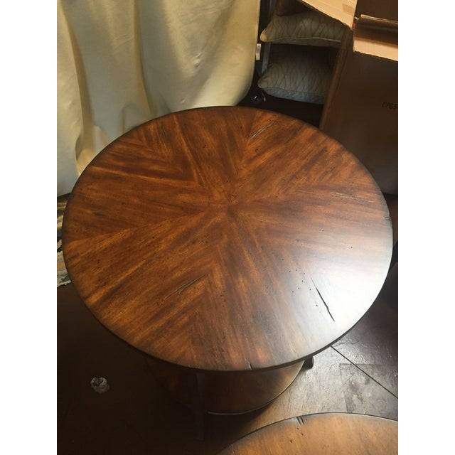 Cabin Traditional Style Round Lamp Table For Sale - Image 3 of 6