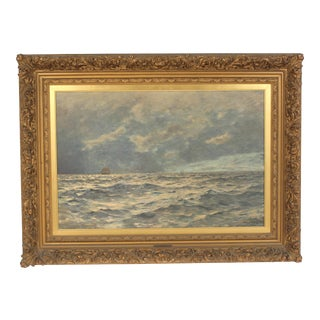 Nautical Paintiing by Otto Sending Dated 1895 For Sale