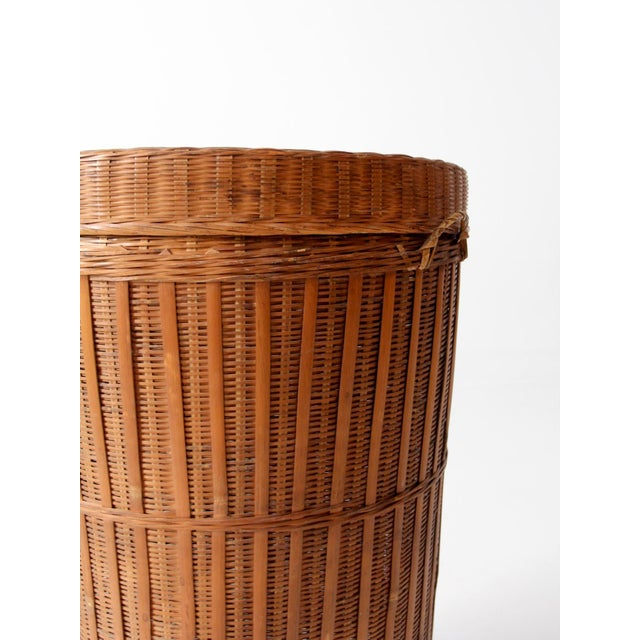 Vintage Woven Hamper Basket - Image 7 of 7