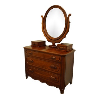 Davis Cabinet Lillian Russell Chest Dresser with Mirror For Sale