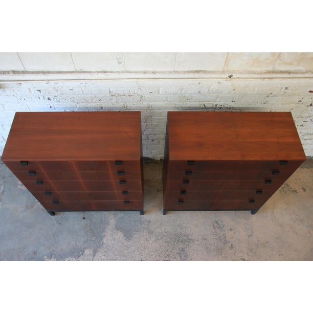 Milo Baughman for Directional Rosewood Highboy Dressers - A Pair For Sale In South Bend - Image 6 of 11
