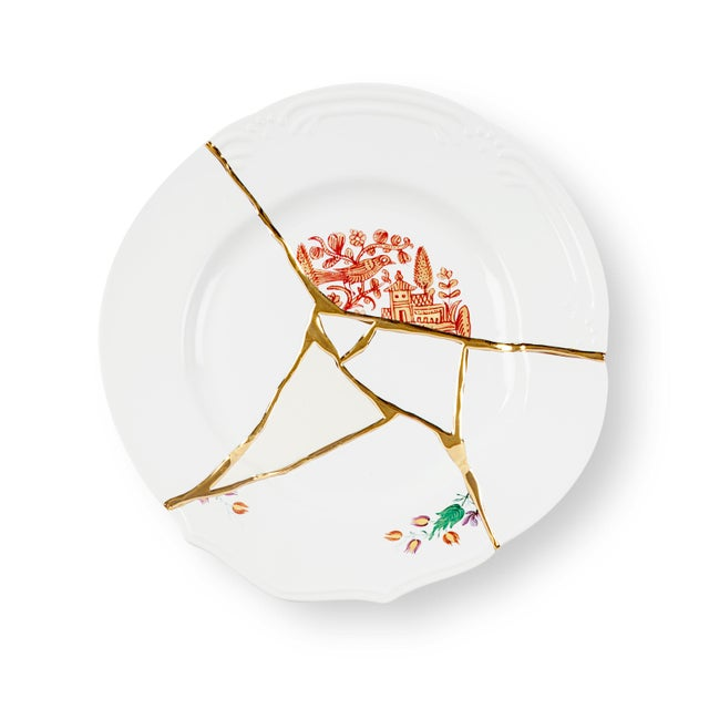 Contemporary Seletti, Kintsugi Dinner Plate 1, Marcantonio, 2018 For Sale - Image 3 of 3