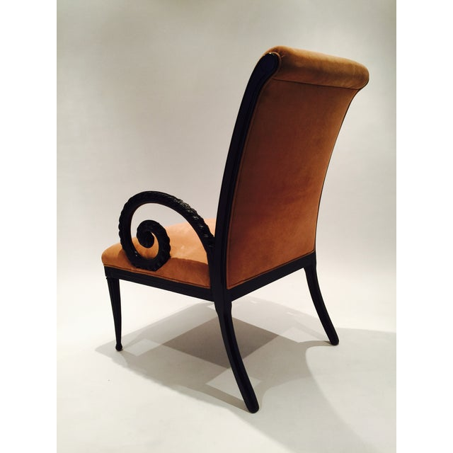 Grosfeld House Style Suede Chairs - A Pair - Image 7 of 7