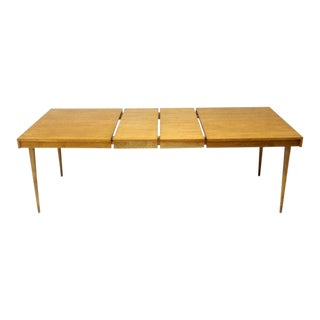 Edmond J. Spence Swedish Blond Birch Dining Table W/ Two Extension Leafs For Sale
