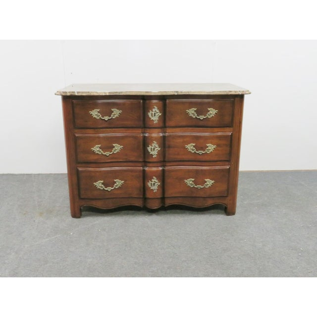 French Hickory Chair Co. Louis XV Style Marbletop Chest For Sale - Image 3 of 9
