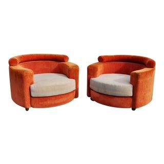 Vladimir Kagan Roche Bobois Chairs-A Pair For Sale