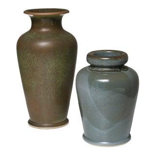 Pair of Ceramic Vases by Franco Bucci for Laboratorio Pesaro For Sale
