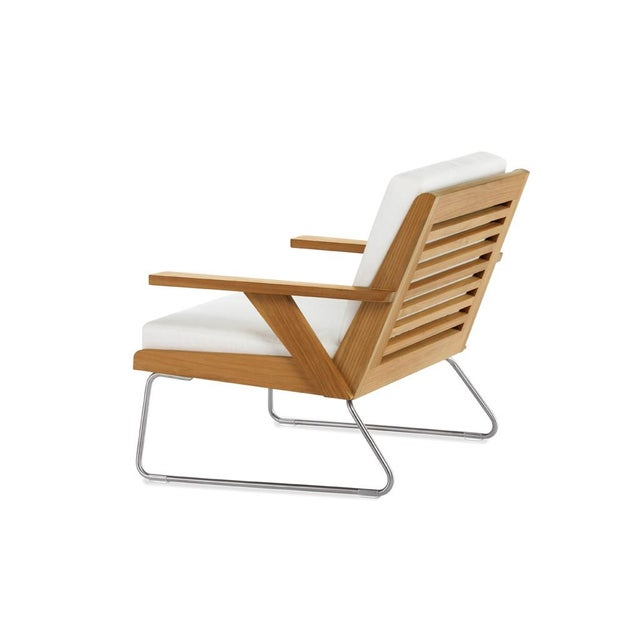 Contemporary Summit Furniture Boomerang Lounge Chair For Sale - Image 3 of 3
