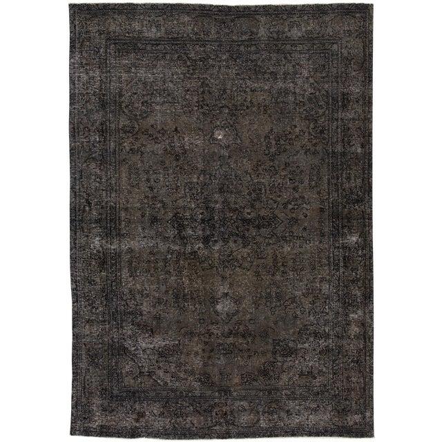 "Apadana - Vintage Persian Overdyed Rug, 6'8"" X 9'7"" For Sale"