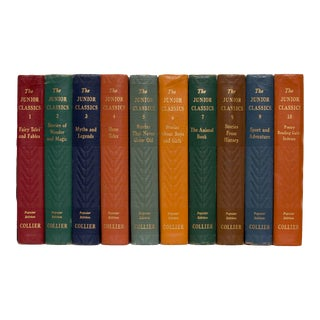 1930s Children's Classics Colorful Hardcover Books - Set of 10 For Sale