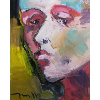 Jose Trujillo Large 16x20 Expressionist Portrait For Sale