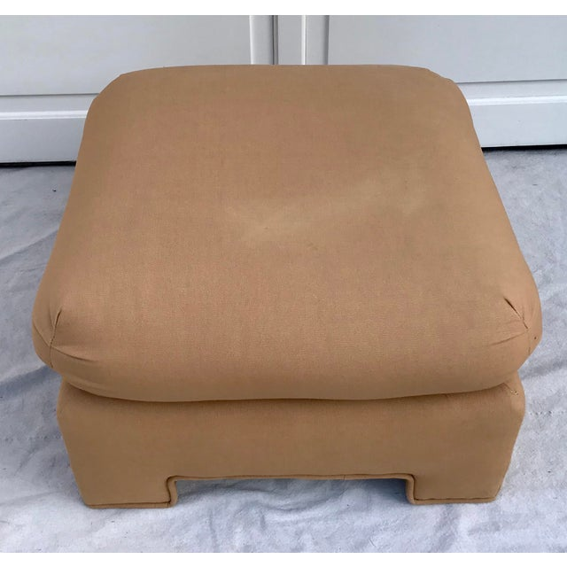1979 Upholstered Soufflé Style Modern Pink Ottoman For Sale - Image 11 of 13