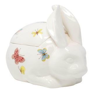 1970's Cottage Fitz & Floyd Rabbit Jar For Sale
