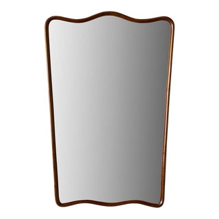 Italian Wood Frame Mirror in the Style of Paolo Buffa For Sale