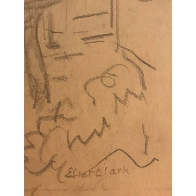 Eliot Clark (1890-1980) Graphite on paper, 12 x 9 inches Signed lower right Offered unframed.