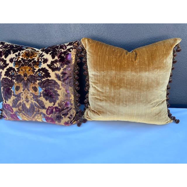 2010s Luigi-Bevilacqua Silk Velvet Pillows - A Pair For Sale - Image 5 of 9