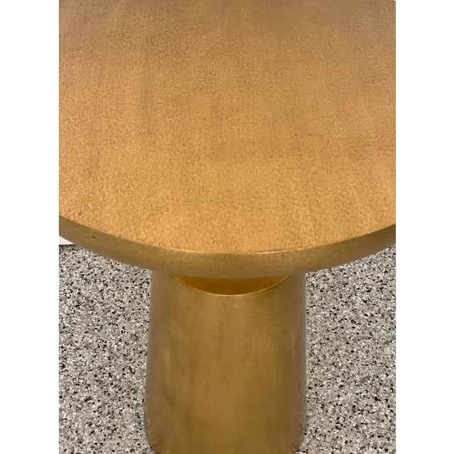 Gold Holly Hunt Gold Peso Side Tables - Pair For Sale - Image 8 of 10