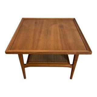 Mid-Century Modern Drexel Declaration Walnut Square Coffee Table For Sale